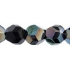 Fire polished 10mm Big Hole Round Black Celsian